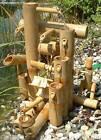 Fontaine bambou, cascade jeu d'eau décoration jardin patio Thaïlande (12035)