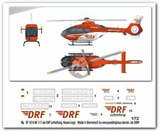 Peddinghaus 1/72 Bk117 B-2 Air Rescue Helicopter Markings D-Hmuf German Drf 1874