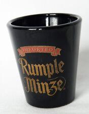 Rumple Minze Shot Glass Jigger Shooter Black Gold Schnapps Liqueur Barware Bar