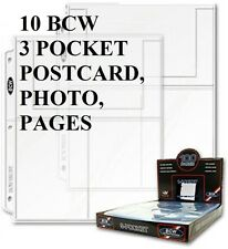 10 BCW 3  POCKET PAGE  POSTCARDS PHOTOS ,COVERS POST CARDS