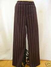ETCETERA $165 BROWN PURPLE STRIPE COTTON PANTS SLACKS PRESTIGE size 6 NEW