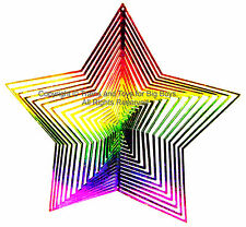 WIND TWISTER DECORATION STAR Shaped Rainbow Colors Garden Decor Outdoors New I