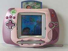 LeapFrog Leapster Learning Game System 20209 Pink & Purple w/ Dora Game Cartridg