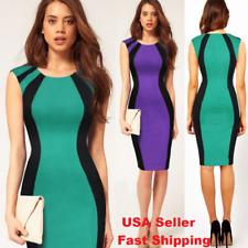 2018 Women Evening Party Dress Summer Sexy Slim Fit Blue Purple Shape fit #100