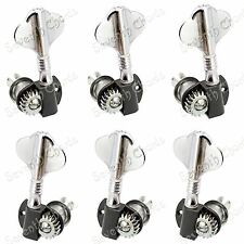 3R3L Chrome Electric Bass Guitar Tuning Pegs Machine Heads Tuners High Quality