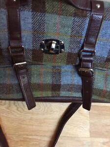 Harris Tweed Green Satchel Bag