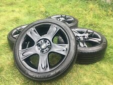 "Genuine 17"" MINI Cooper S Bullet Alloy Wheels & Tyres JCW 4x100 Crown Spoke £"