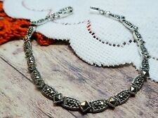 My S Collection 925 Sterling Silver & Marcasite Bracelet
