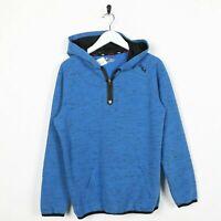 Vintage Kid's FILA Small Logo 1/4 Zip Hoodie Sweatshirt Blue | XL