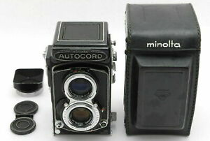 [Exc+5] Minolta Autocord III TLR Film Camera w/ Rokkor 75mm f3.5 Case JAPAN 584