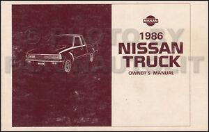 1986 Nissan Camioneta Camión Propietarios Manual Guía Libro 720 Pick-Up Gas