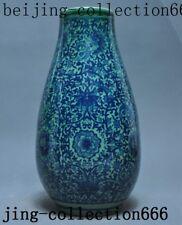 China Old porcelain glaze Hand Painted flower Zun Cup Bottle Pot Vase Jar Statue