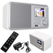 Internetradio WLAN Radio Wecker Timer Web Wetter Bluetooth Xoro HMT 300 weiß