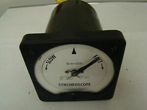 1pc. Westinghouse KI-241 Synchroscope 186A235A01 , Used