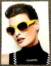 Original 2012 Vogue Magazine Linda Evangelista Chanel by Karl Lagerfeld Advert