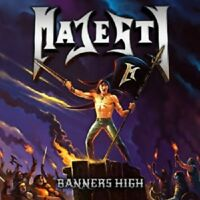 MAJESTY - BANNERS HIGH (LIMITED FIRST EDITION)  CD  13 TRACKS HEAVY METAL  NEU