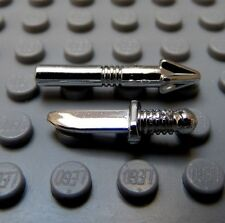 LEGO Pair of Diver Minifig Weapons Chrome Knife and Harpone