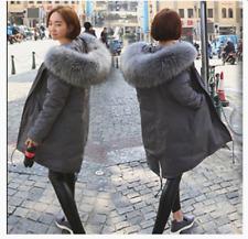 Womens Big Fur Collar Hooded Womens Korean Snow Parka Coat Jacket Winter Outwear