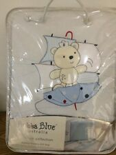 NEW Bubba Blue - Boys - Embroidered Premium Collection 6 Piece Nursery Gift Pack