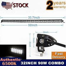 32INCH-34INCH 90W SLIM LED WORK LIGHT SPOT BAR DRL LAMP UTE ATV OFFROAD 36W/54W