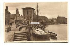 Boston, Lincolnshire - The Quay, boats etc - old postcard