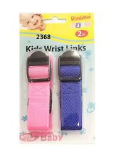 CHILDS  WRIST LINK STRAP BABY/TODDLER SAFETY REIN ADJUSTABLE ELASTICATED RIBBON
