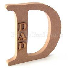 Dad Wooden MDF Letter Fathers Day / Christmas / Birthday Celebration Gift