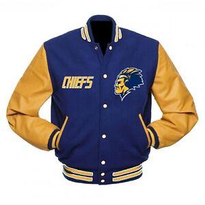 Charlestown Chiefs Slap Shot Varsity jacket small medium Large XL 2XL 3XL