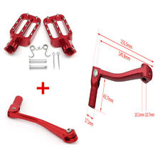 Red CNC Motorcycle Rider Footpegs Foot Rest Pegs&Folding Gear Shifter Lever Set