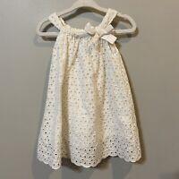 Baby Gap Girl Eyelet White Lace Lined Swiss Dot Daisy Photo Dress 6-12 Months