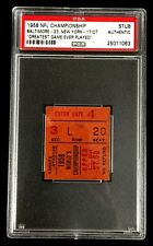 1958 NFL CHAMPIONSHIP GAME BALTIMORE COLTS VS NEW YORK GIANTS TICKET PSA