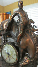 Vintage Western Cowboy~Rodeo~Bucking Bronco Mantel Clock ~ Lanshire Movement