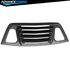 Fits 08-17 Dodge Challenger Rear Window Louver Unpainted Black Cover ABS