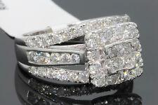 10K WHITE GOLD 2.26 CARAT PRINCESS DIAMOND WOMEN BRIDAL WEDDING ENGAGEMENT RING