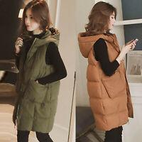 Fashion Womens Plus Size Hoodie Waistcoat Vest Gilet Jacket Coat Outwear Tops