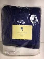pottery barn kids corduroy bedskirt twin blue %100 Cotton