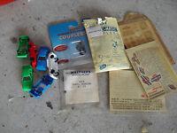 Lot of Vintage HO Scale Tyco Cars Couplers Decals More LOOK