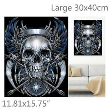 Gothic Skull Pirate Badge 5D Diamond Painting Embroidery Cross Stitch Kit Decor