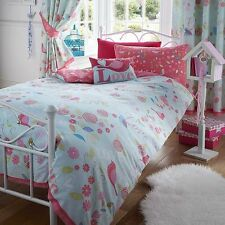 bird Single duvet cover set girl melody love birds pink blue shabby chic