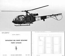 SE 3130 Alouette II Helicopter Parts Service Catalog Manual 1960's SA 313 316