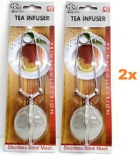 LOT of 1x 2x Tea Infuser Leaf Filter Clip Mesh Ball Stainless Herb Strainer NEW