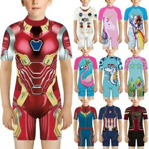 Kids One Piece Girls Boy Swimsuit Swimming Casual Swimwear Surf Suit Holiday
