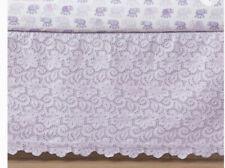 Pottery Barn Kids Crib Skirt Bed Dust Ruffle Lavender Lace Eyelent Nursery Baby