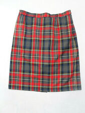 VINTAGE GREY & RED TARTAN SKIRT