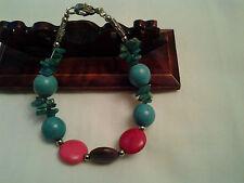 Multi Colore hand made stile tibetano, perline con grana naturale & Bracciale Corallo