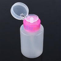 Nail Art Makeup Empty Clear Pump Dispenser Bottle for Liquid UV GEL Remover New