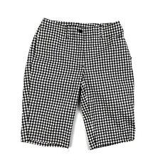 Nivo Womens Sport Golf Bermuda Stretch Shorts Black White Gingham Plaid Size 2
