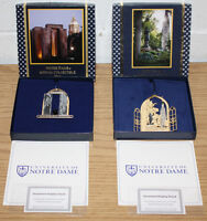 University of Notre Dame Annual Collectibles 2011 & 2013, Christmas Ornaments