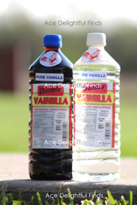 Two (2) Danncy Pure Mexican Vanilla Extract; 1 Dark & 1 Clear; 1 Liter Each