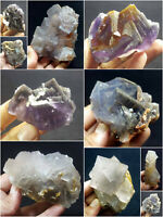 Fluorite Specimens Lot Natural Purple Blue Cubic Formation Crystals 4.8kg 10Pcs